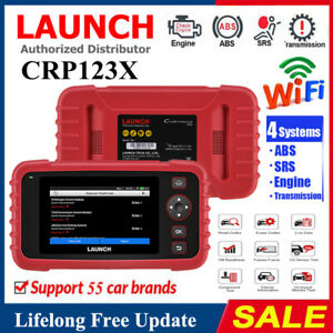 Launch Creader 7001s X431 Crp123 Vii Obd2 Code Reader Car Scanner Tool Abs Srs
