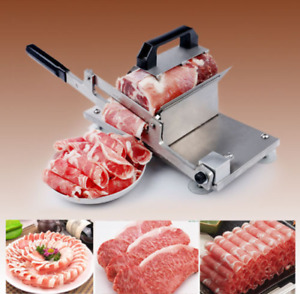 Manual Control Meat Slicer Stainless Cutting Beef Mutton Sheet Food Kitchen