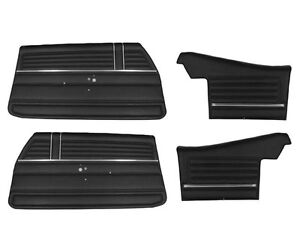 1968 Chevelle Convertible Door Panels Front And Rear Set In Black J 6480