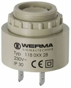 Werma 90db Panel Mount Continuous Slow Pulse Internal Piezo Buzzer