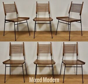 6 Shovel Chairs By Paul Mccobb Maple And Iron Mid Century Modern