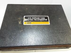 B k Precision 470 Picture Tube Tester Rejuvenator Manuals Adaptors