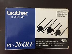 Brother Pc204rf Thermal Transfer Refill Roll Black 4 pk Brand New