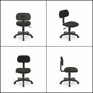 Armless Task Kids Black Chair Classic Computer Desk Swivel Chair Office Dorm