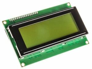 Parallax Inc 27979 Alphanumeric Lcd Display Black On Green 4 Rows By 20 Charac