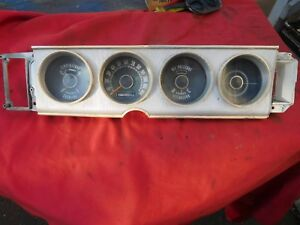 1964 Plymouth 64 Mopar Instrument Cluster 2426347 Showing 37 000 Miles