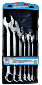 6pc Jumbo Combination Spanner Set Metric 34 50mm Din 3113a 12 Point Pro Drive