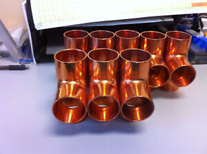 8 Copper Fittings 1 1 2 Copper Tee lot Of 8