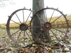 2 Tractor Implement Corn Planter Wheels Allis Chalmers Ford Ihc John Deere A