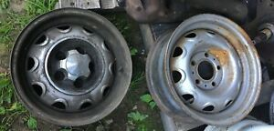 1 Pair 2 Each 14 X 16 Mopar Ralley Wheels Have Some Dings Used Dodge Plymouth