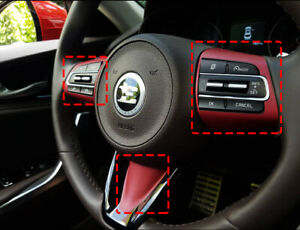 Car Steering Wheel Handle Protector Decal Sticker Red 3p For Kia Stinger 2018