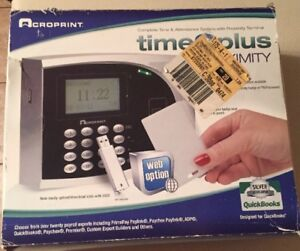 Acroprint Timeqplus Proximity Time And Attendance System Time Clock Open Box Ec