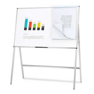 Melamine H stand Whiteboard Adjustable Dry Erase Board Office Flipchart Easel