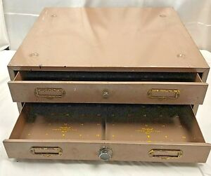 2 Vintage Filmstrip Metal Storage Drawers Jack C Coffey Co Lot 2