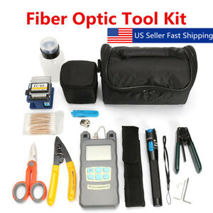 Tk16 Fiber Optic Ftth Tool Kit Fc 6s Cutter Fiber Cleaver Optical Power Meter