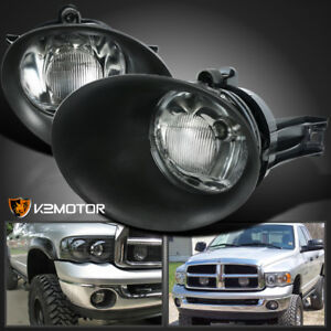 2002 2008 Dodge Ram 1500 2500 3500 Pickup Clear Bumper Driving Fog Lights Bulbs