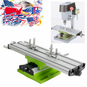 A milling Compound Working Table Cross Sliding Bench Drill Vise Fixture Diy Usa