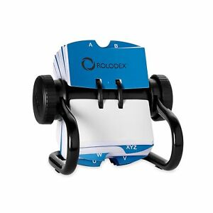 Rolodex Open Rotary Card File With 500 2 1 4 X 4 Inch Cards And 24 Guides Bl