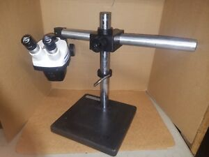 Bausch Lomb Stereozoom 4 Microscope On Adjustable Boom Stand 0 7x 3 0x