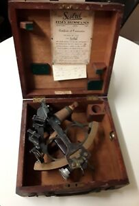 Nautical Maritime Sextant By Henry Brown Son