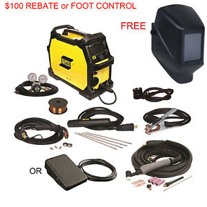 Esab Rebel Emp 215ic Multiprocess Welder 3in1 Pkg Free Jackson Helmet
