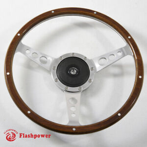 15 Classic Laminated Wood Steering Wheel Ford Mustang Shelby Ac Cobra Vintage