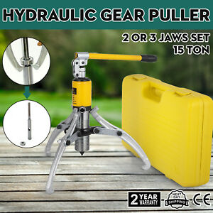 15 Ton Hydraulic Gear Wheel Bearing Puller Separator Tool 3 Jaws With Box