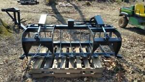 Skid Steer Tractor Attachment 72 Dual Cylinder Root Grapple Bucket
