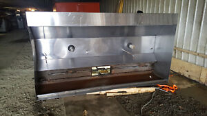 8 1 2 Foot Exhaust Hood Vent Commercial Restaurant Kitchen Stainless Steel Used