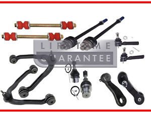12pc Front Upper Control Arm Lower Ball Joint Tie Rod Pitman Idler Arm 6 Lug