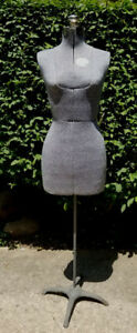 Vintage Acme Dress Form Size A Adjustable Mannequin W Iron Stand