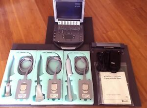Sonosite M turbo Ultrasound System W 3x Probes fully Loaded