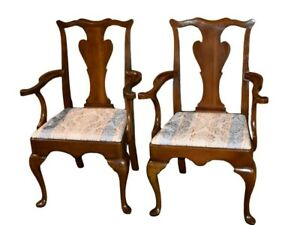 Vintage Set Of Six Solid Cherry Traditional Style Dining Chairs