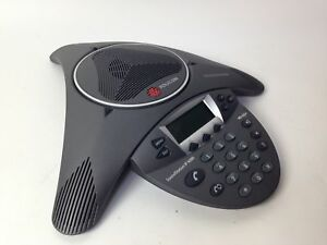 Polycom Ip 6000 Conference Poe Soundstation Phone 2201 15600 001 sold As is read