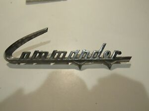 Commander Studebaker Car Vintage Metal Emblem Badge Trim Nameplate Logo
