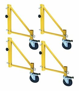 18 Inch Scaffolding Outriggers With Casters 4 Piece Set