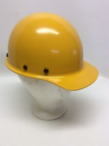 Vintage Yellow Msa Skullgard Ironworker Hard Hat