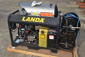 Landa Hot Cold Water Pressure Washer Pgdc5 35324e Honda Gx630 3500psi Electronic