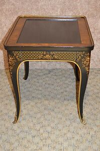Vintage Drexel Asian Style Accent Table W Drawer