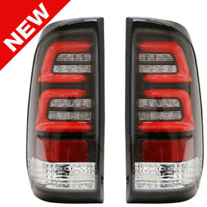 97 03 Ford F150 99 07 F250 F350 F450 F550 Led Taillights Clear black red