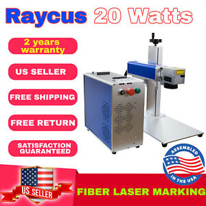 Us Seller Fiber Marking Machine Laser Engraving 20w Compatible With Win10