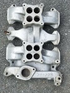 1953 63 Oldsmobile 303 324 Weiand 04d Dual Quad Manifold Rare Early Version