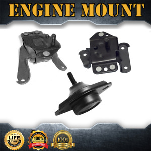 Engine Mount Manual Trans Mount Set 3pcs For 1994 95 Ford Mustang V6 3 8l