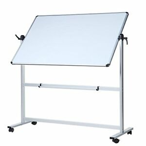 Viz pro Double Sided Dry Erase Board Office Whiteboard Magnetic Mobile 60x36