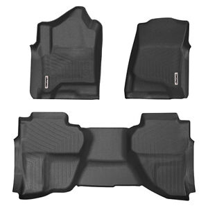 Oedro Floor Mats Liners Fit For 14 18 Chevy Silverado Sierra Double Extended Cab