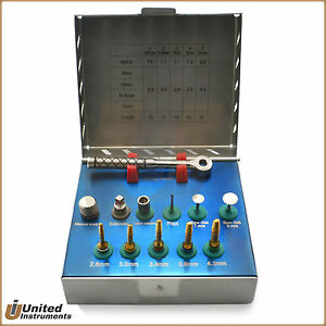 Dental Bone Expander Drill Kit Sinus Lift With Saw Disk Oral Surgery Instruments