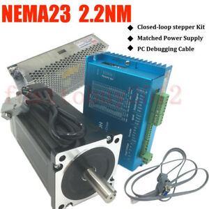 2 2nm 314oz in Dsp Closed Loop Stepper Motor Nema23 Drive Power Suply pc Cable