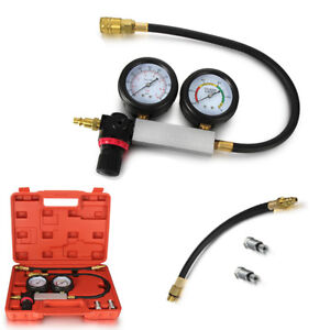Cylinder Leakage Leakdown Leak Detector Engine Pressure Compression Tester Set