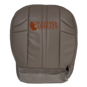 02 07 Jeep Cherokee Driver Bottom Synthetic Leather Seat Cover Gray Pattern