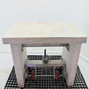Marble Table Anti vibration Height Adjustable Wheels L24 X W35 X H31